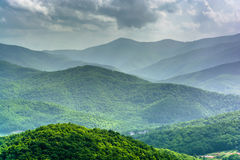Mid-day view of the Appalachian Mountains from the Blue Ridge Pa Stock Image