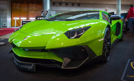 Mid-engined sports car Lamborghini Aventador LP 750-4 SuperVeloce, 2016. Royalty Free Stock Images