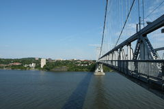 Mid-Hudson Bridge. The FDR Mid-Hudson Bridge, connects the towns of Poughkeepsie and Highland, NY.  It is shown here facing east towards Poughkeepsie Royalty Free Stock Photos