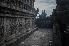 Mid-level walkway at Borobudur Stock Photos