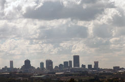Mid-morning Johannesburg Skyline with clouds Stock Image