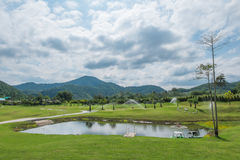 Mid-mountain basins. In thailand Stock Photography