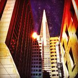 Mid Night. Downtown San Francisco royalty free stock photo