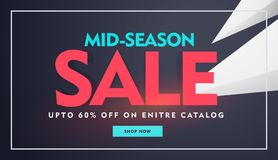 Mid night sale and discount banner for promotion Stock Photos