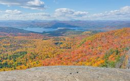 Mid-October Afternoon Hike In The Southern Adirondacks. Hiking in the southern portion of Adirondacks on a sunny and partly cloudy afternoon in Mid-October Royalty Free Stock Photo