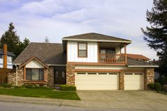 Mid range home Stock Photography