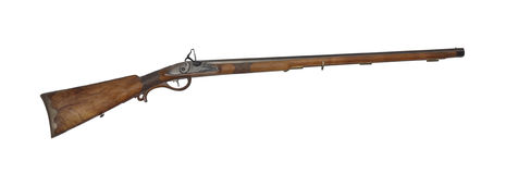 Mid-range hunting rifle of 19th century cutout Royalty Free Stock Image