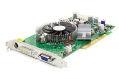 Mid-Range Video Card (isolated on white) Stock Images