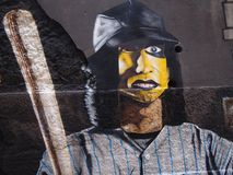 Thriving urban graffiti and street art scene in Lisbon, Portugal, 2014. Since the mid-2010s, Lisbon is experiencing a burgeoning urban art scene, of which the Stock Photography