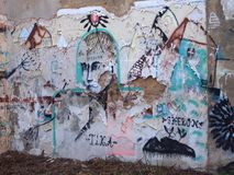 Thriving urban graffiti and street art scene in Lisbon, Portugal, 2014. Since the mid-2010s, Lisbon is experiencing a burgeoning urban art scene, of which the Stock Photos