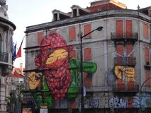 Thriving urban graffiti and street art scene in Lisbon, Portugal, 2014