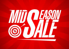 Mid season sale design template Royalty Free Stock Photo