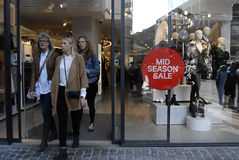Mid season sale at H&M Royalty Free Stock Photography