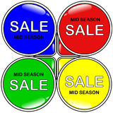 MID SEASON SALE LABEL Stock Image