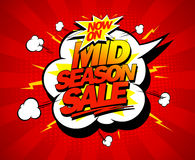 Mid season sale pop-art design mock up Royalty Free Stock Image