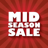 Mid season sale poster design with bold font and Stock Photos