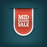 Mid season sale ribbon elements for online Stock Photos
