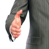 Mid section of a business man offering handshake Stock Photography