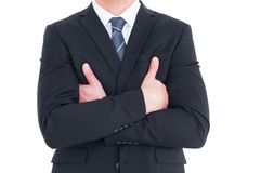 Mid section of businessman with arms crossed Stock Photos