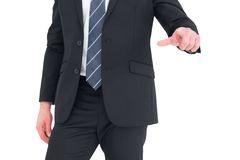 Mid section businessman pointing with his finger Stock Photography