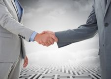 Mid-section of businessman shaking hands Royalty Free Stock Photo