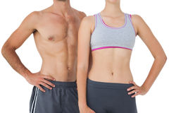 Mid section of a fit young couple Stock Photography