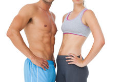 Mid section of a fit young couple Royalty Free Stock Photography