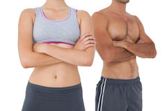 Mid section of a fit young couple Stock Image
