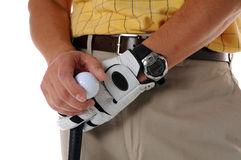 Mid Section of Golfer Stock Photography