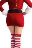 Mid section of sexy santa girl Royalty Free Stock Images