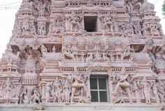 Mid section of Shiva temple in Thirumayam. Royalty Free Stock Photography