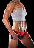 Mid Section of Woman Holding Dumbbell Royalty Free Stock Photography