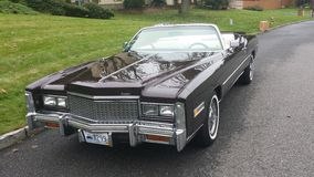 Mid Seventies Cadillac Convertible Royalty Free Stock Image