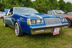 Mid-size car Buick Regal, 1984. PAAREN IM GLIEN, GERMANY - MAY 23, 2015: Mid-size car Buick Regal, 1984. The oldtimer show in MAFZ Royalty Free Stock Photos