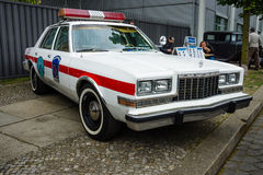 Mid-size car of the fire department Dodge Diplomat. Royalty Free Stock Image