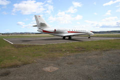 Mid size corporate jet Royalty Free Stock Photos