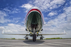 Mid size jet parked Royalty Free Stock Photos