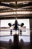 Mid Size jet Turbine in Hangar Royalty Free Stock Photo