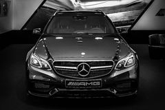 Mid-size luxury car Mercedes-AMG E63 S4MATIC T-Modell. Stock Image