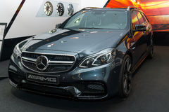 Mid-size luxury car Mercedes-AMG E63 S4MATIC T-Modell. Stock Photo