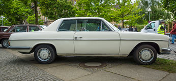 Mid-size luxury car Mercedes-Benz 250CE (W114), 1971 Royalty Free Stock Image