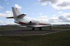 Mid sized corporate jet Stock Photo