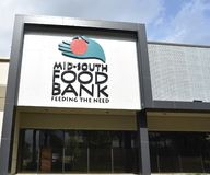 Mid-South Food Bank Entrance, Memphis, TN. Mid-South Food Bank was founded in 1981.   A charitable organization, we are a member of Feeding America, the national stock photography