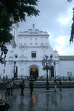 The mid 16th century building of the Caracas Cathedral chapel of the Holy Trinity Stock Image