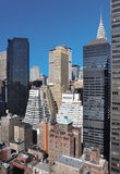 Mid-town Manhattan cityscape Stock Images
