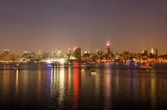 The Mid-town Manhattan Skyline Stock Image