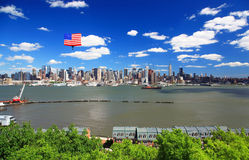 The Mid-town Manhattan Skyline Royalty Free Stock Photography