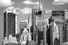 The Mid-town Manhattan Skyline Royalty Free Stock Image
