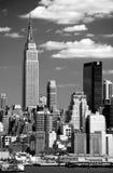 The Mid-town Manhattan Skyline Stock Photo