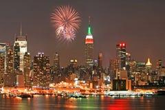 Mid-town Manhattan skyline royalty free stock photos